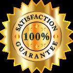 100 percent satisfaction guarantee