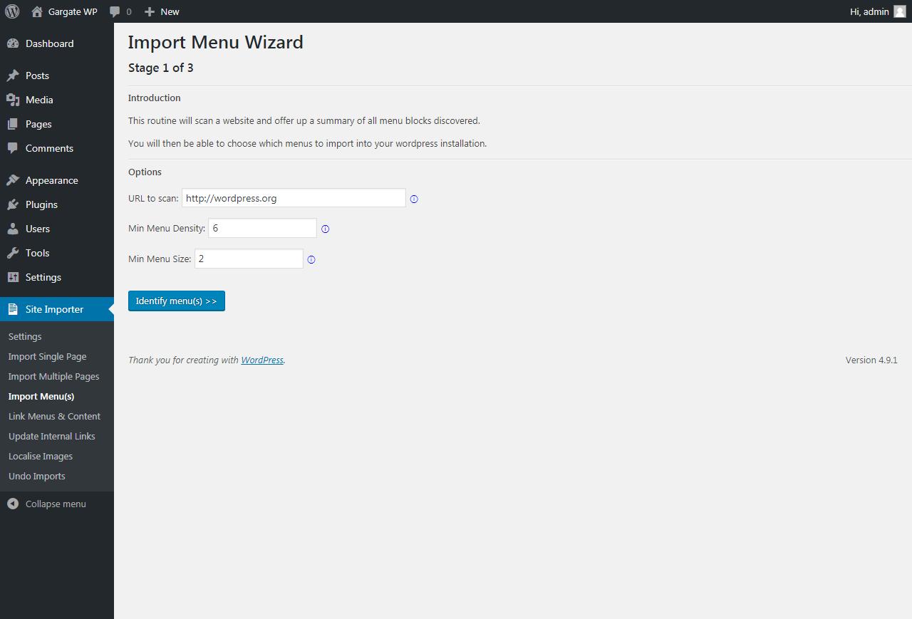 Importing Menus - WordPress Import Plugin - WP Site Importer