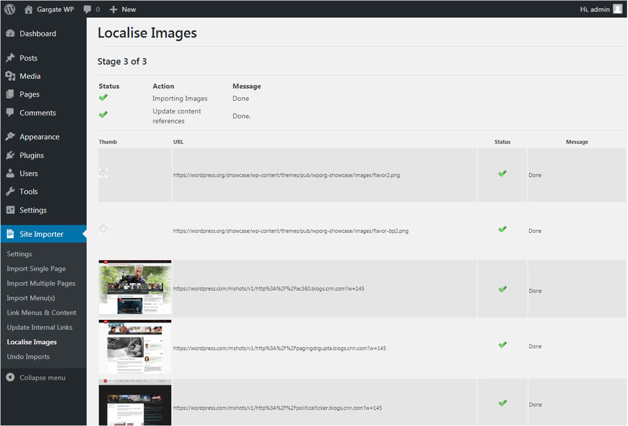 WordPress Plugin - Import Images to Media Library